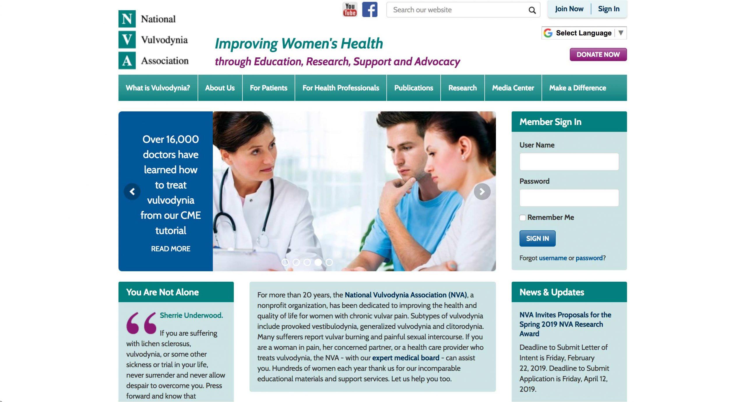 NVA - National Vulvodynia Association - Home Page