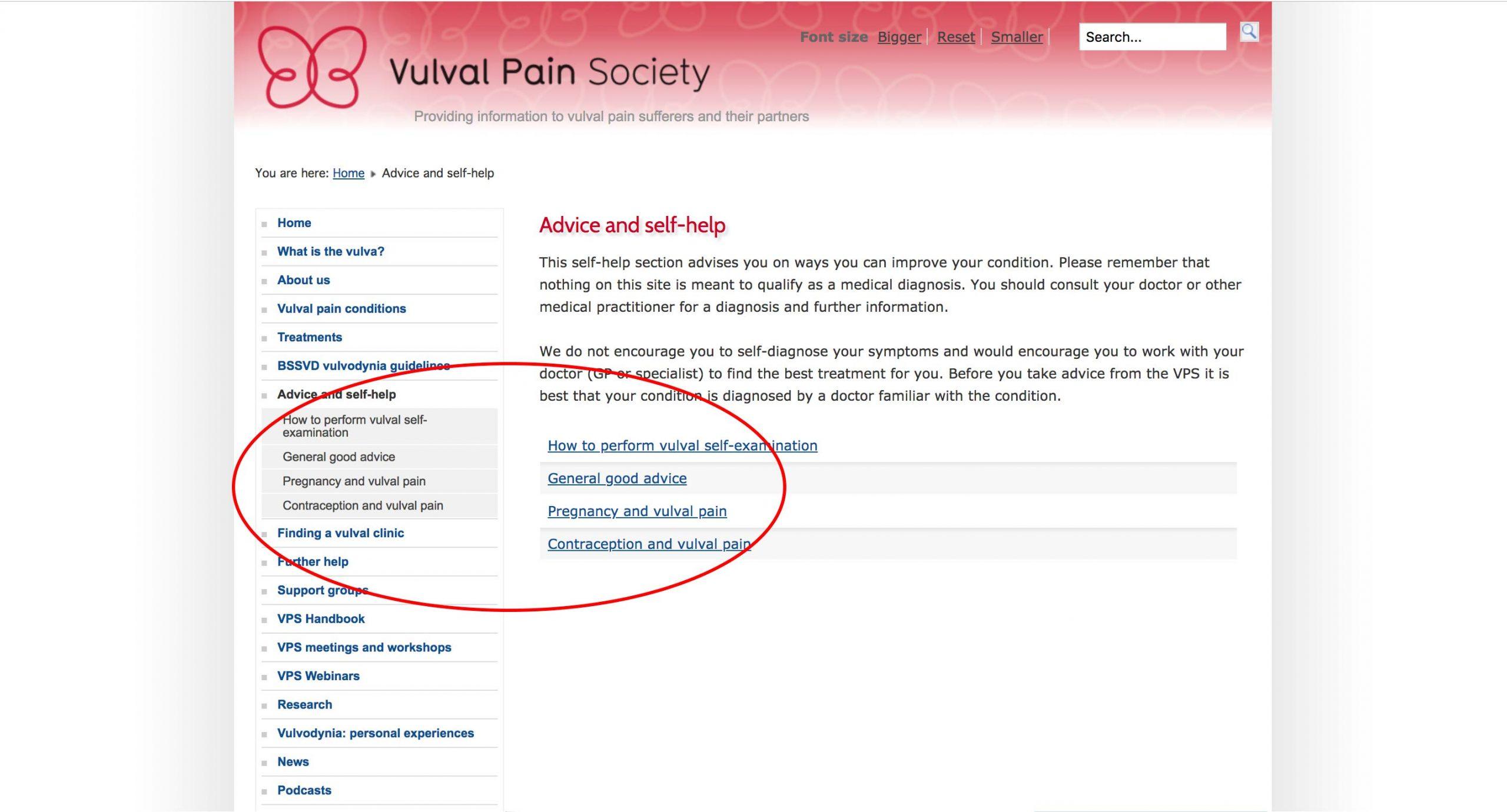 Vulva Pain Society - Free Resources