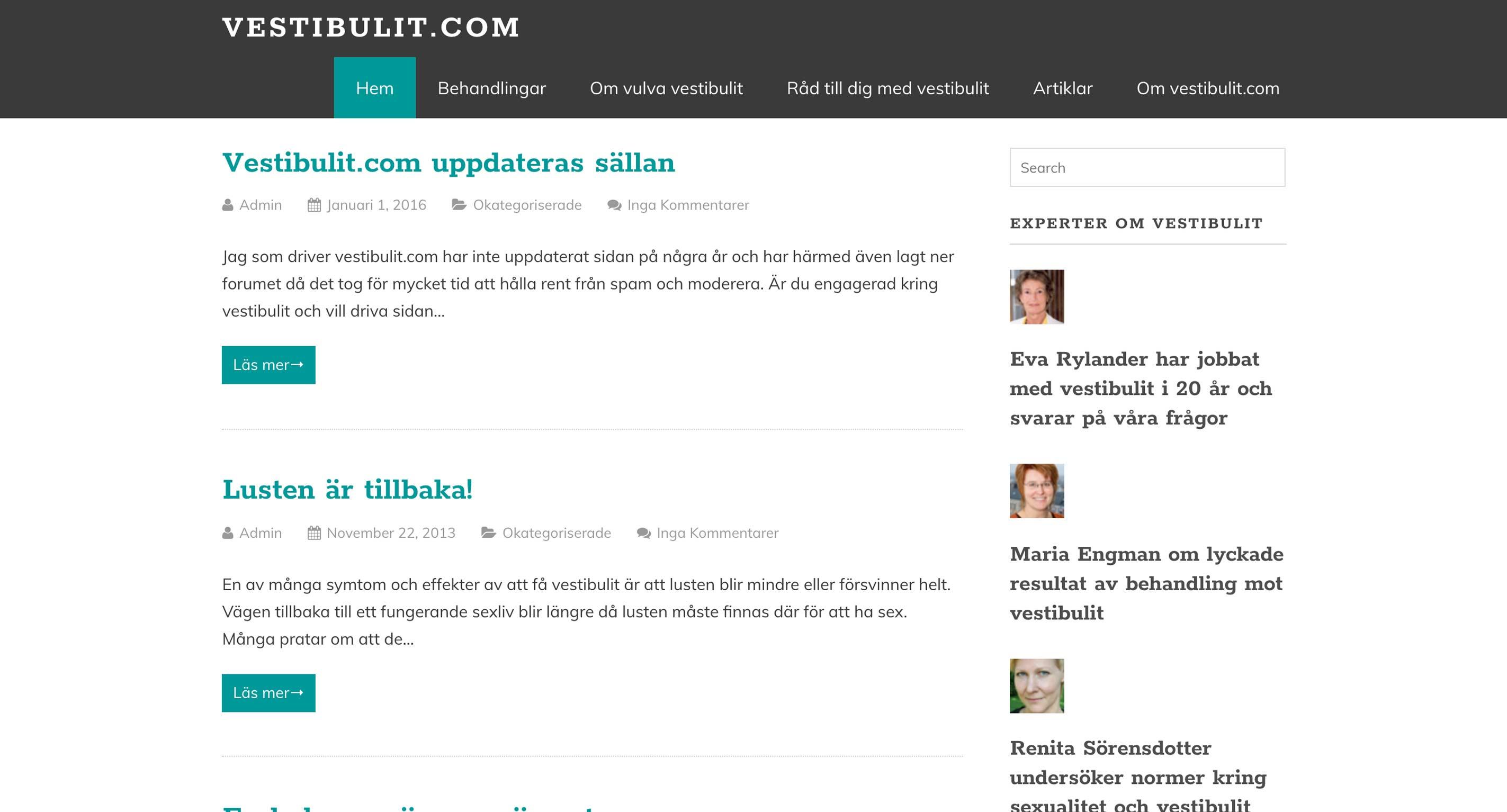 Vestibulit - Home Page