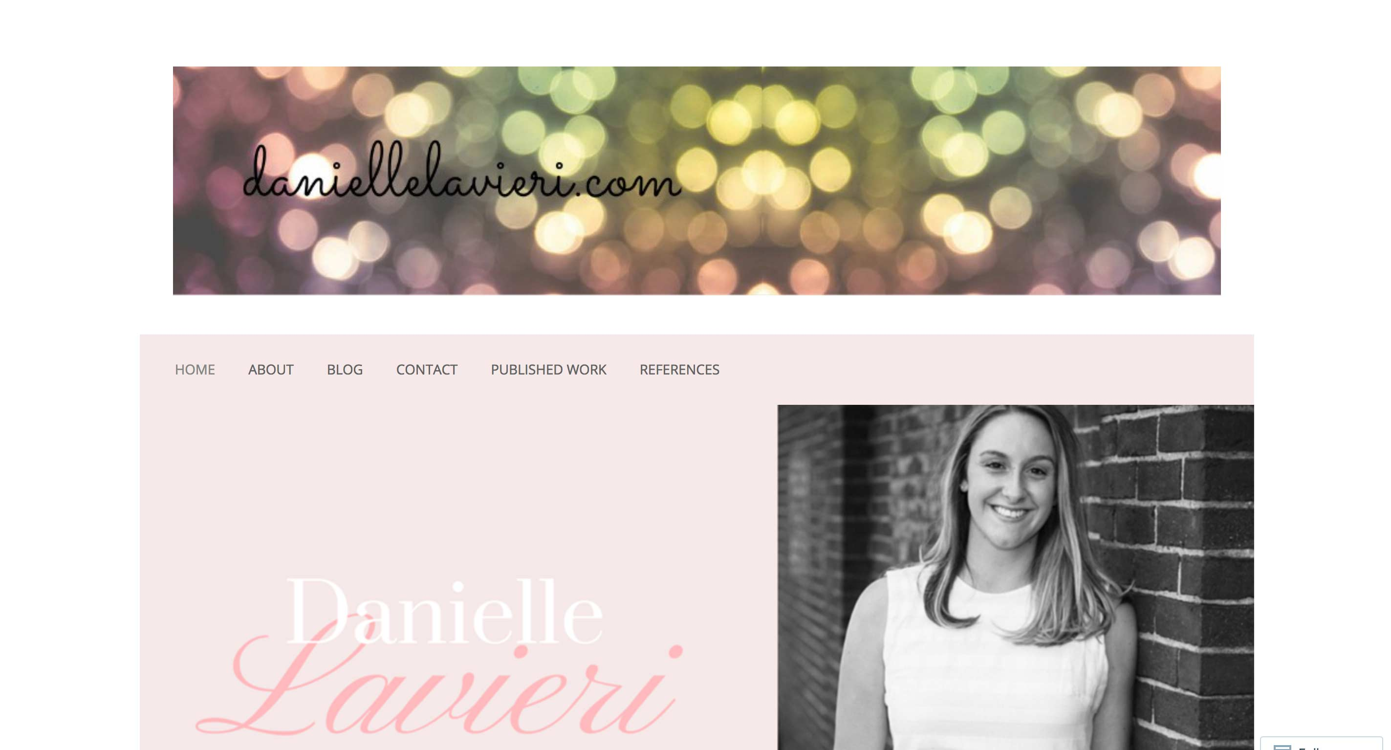 Danielle Lavieri Blog - living with vulvodynia