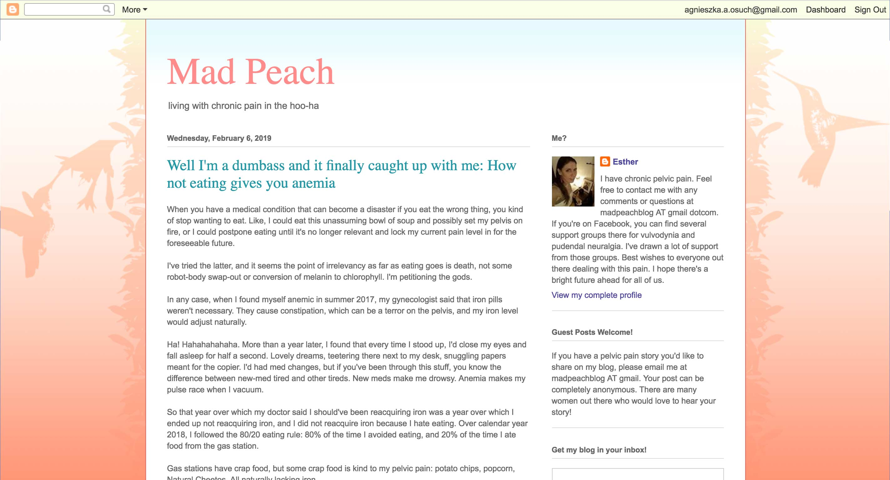 Mad Peach - blog about living with vulvodynia