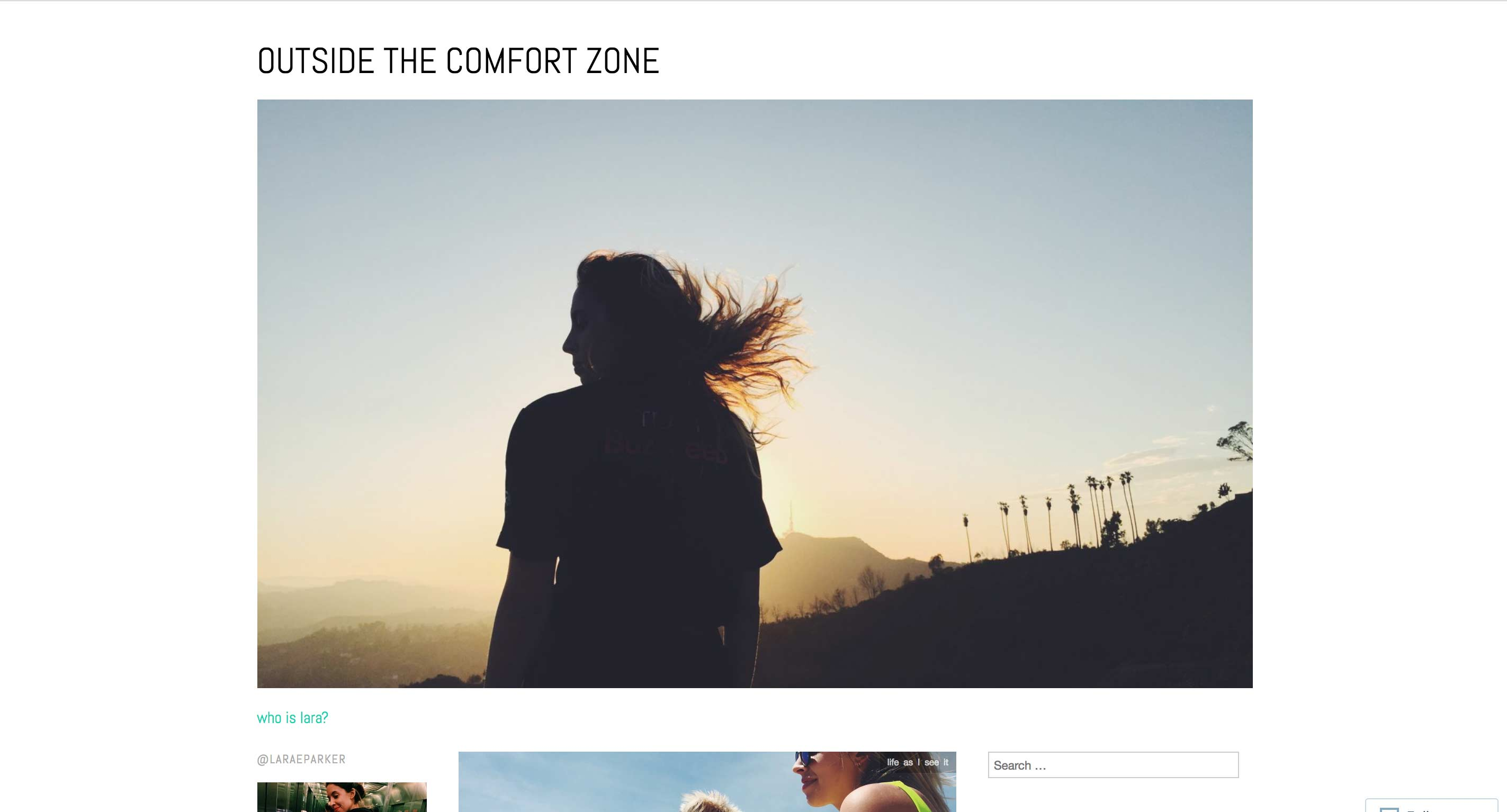 Outside The Comfort Zone - Lara Parker