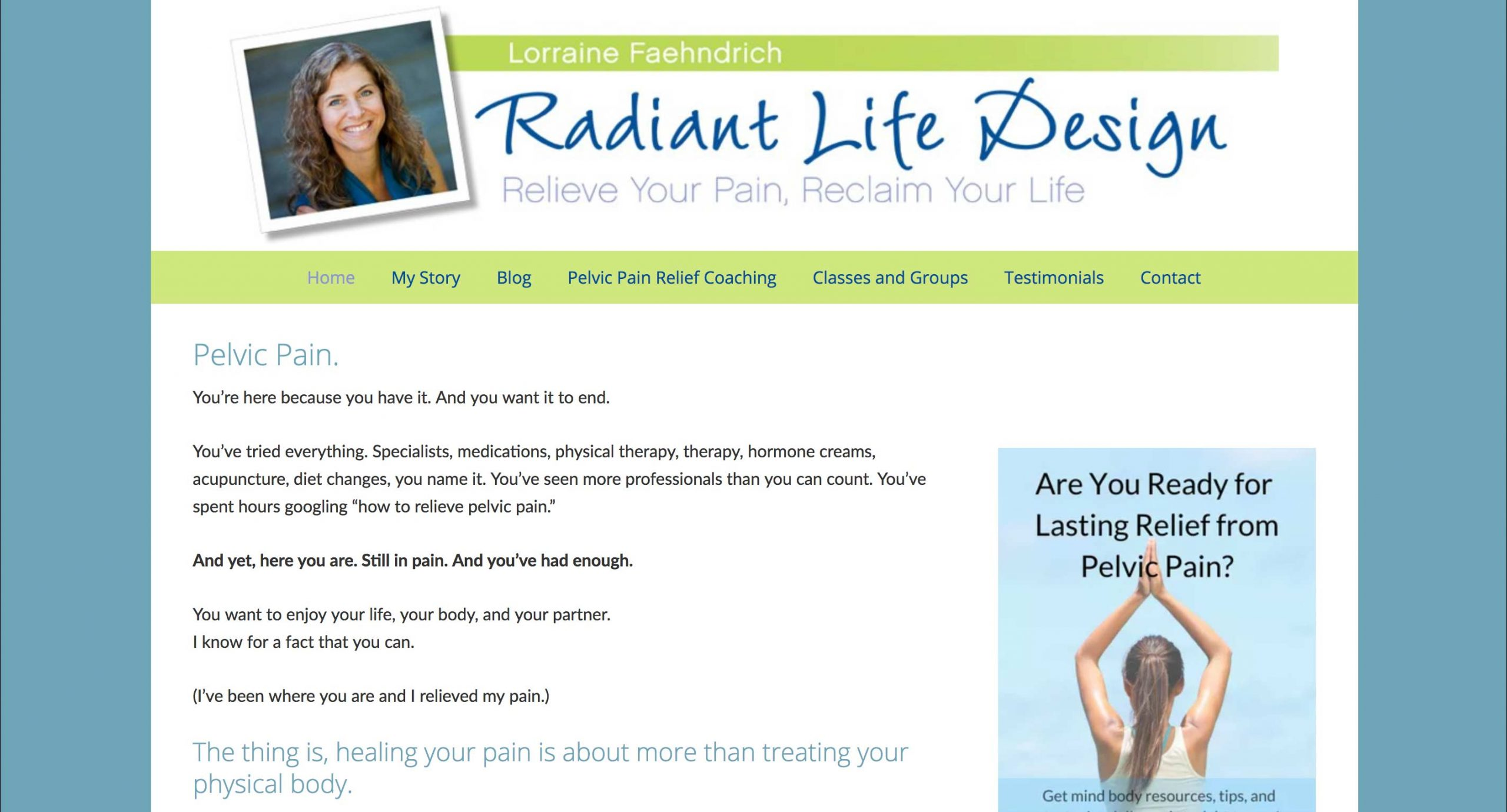 Radiant Life Design - Mody Body approach to healing vulvodynia