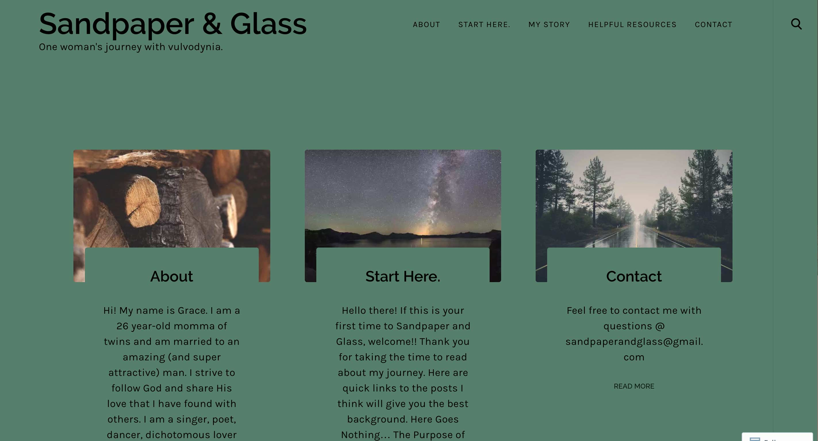 Sandpaper & Glass, One Woman's Journey With Vulvodynia